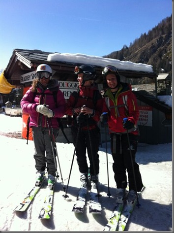thealps' staff on ski mountaineering tour to Perrin