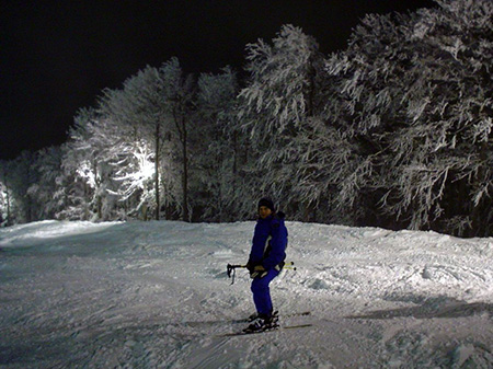 Night skiing in Gressoney-Saint-Jean