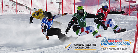 Snowboard Cross World Cup in Cervinia