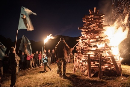 Bonfires across the Alps to acknowledge climate change