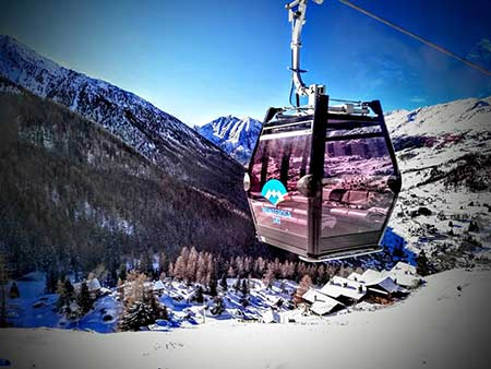 The new gondola from Champoluc is up and running