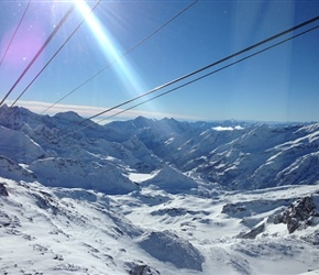On the slopes in Monterosa Ski
