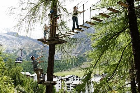 Adventure forest in Saas-Fee