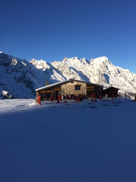 Restaurants on the slopes, Courmayeur