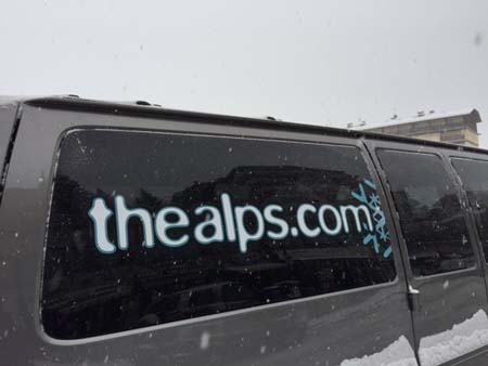 TheAlps picks you up from the airport