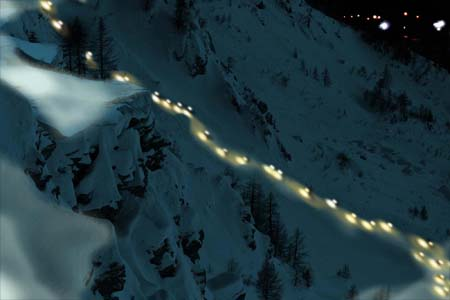Winter Eco Trail by Night in Courmayeur