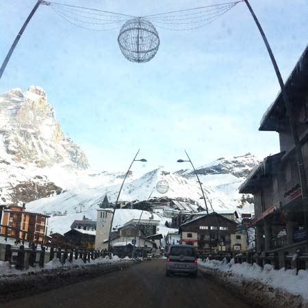 Driving in Cervinia