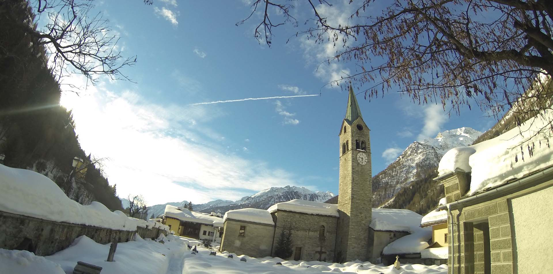 Gressoney church in the village