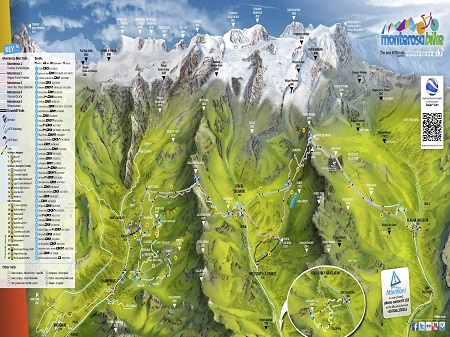 Piste trek bike maps to Monterosa thealpscom