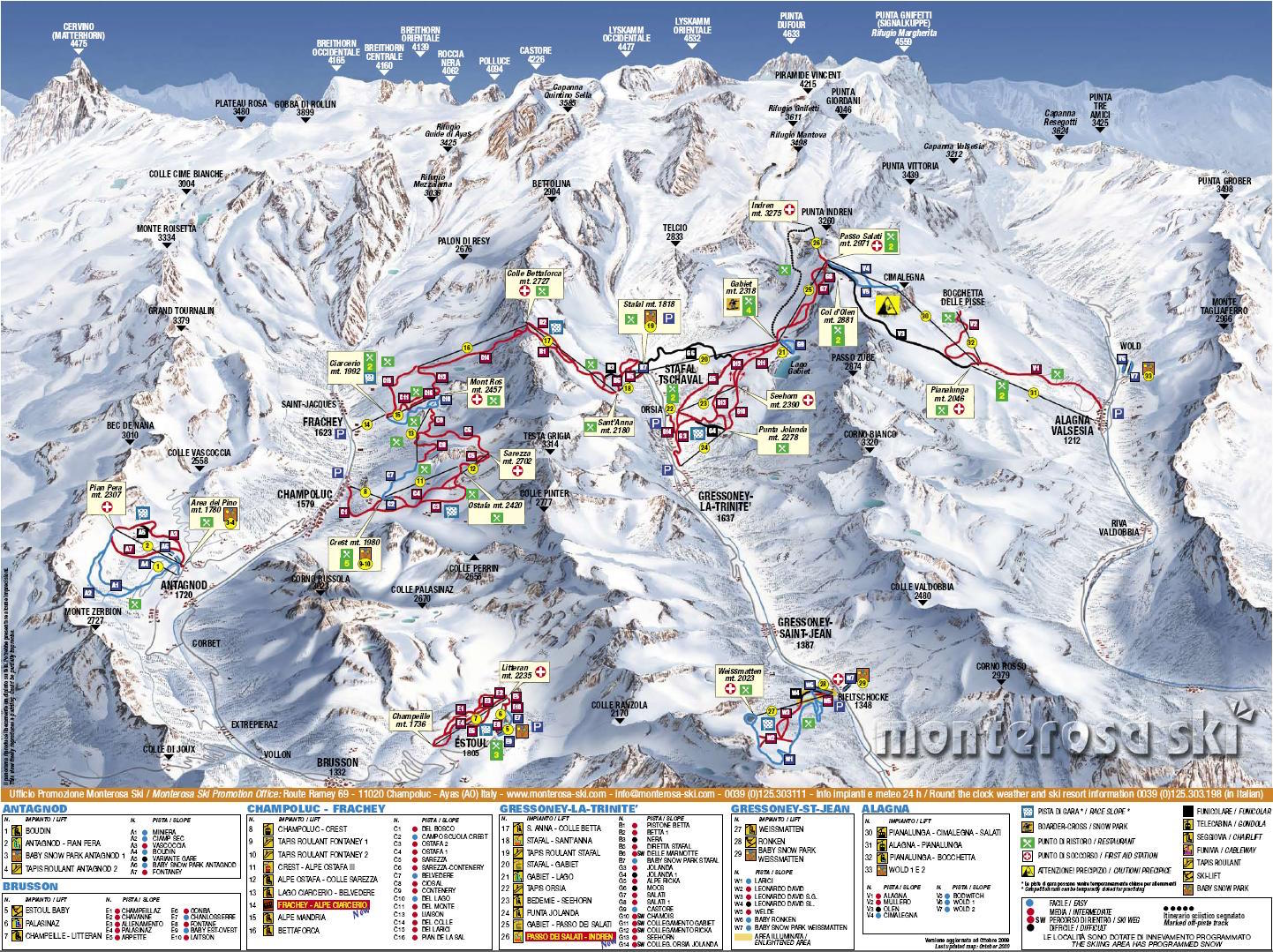 Piste maps to Monterosa thealpscom