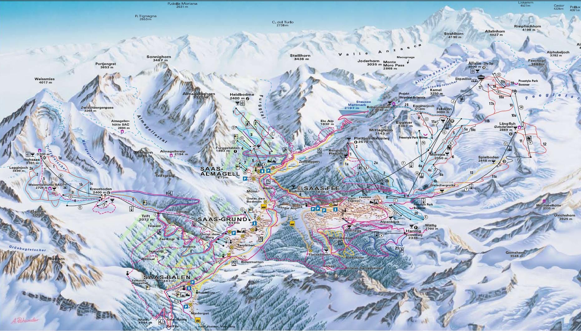 Piste maps to Monterosa thealpscom
