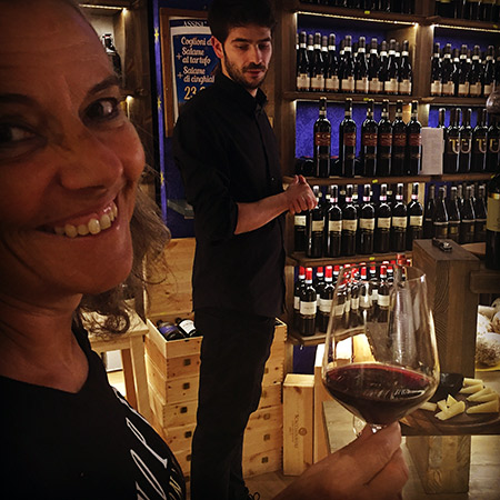 Marta visiting a small vineria