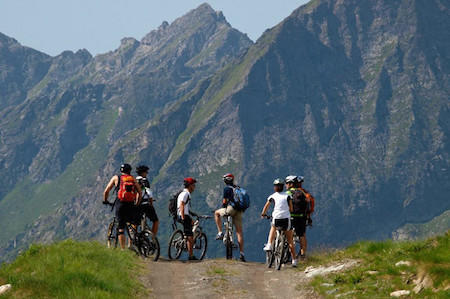 Corporate tours Biking in Monterosa