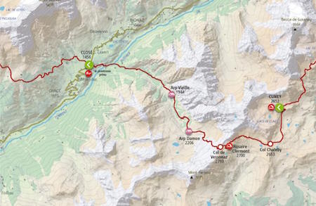 Map11 Rifugio Cuney Oyace