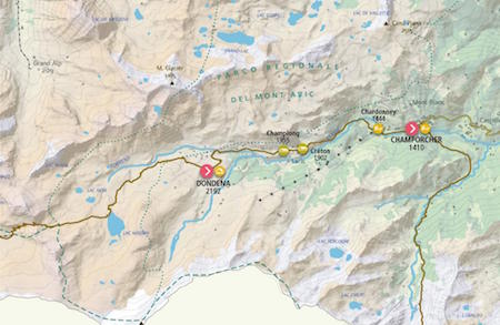 Map12 Rifugio Dondena – Champorcher title=