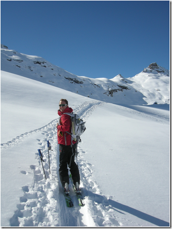 Ski mountaineering pause
