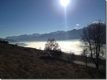 Aosta Valley in the fog