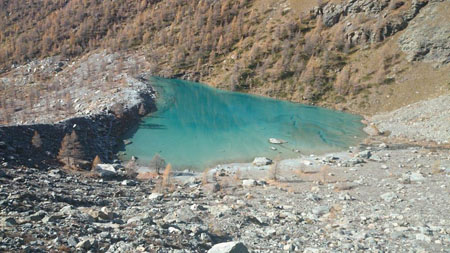 Lago Blu, Ayas Valley