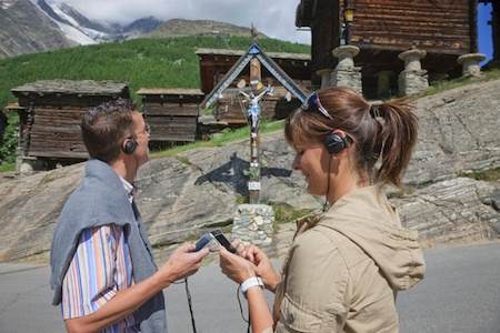 Audio tour in Saas-Fee