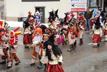 Carnival Saas Fee children parade