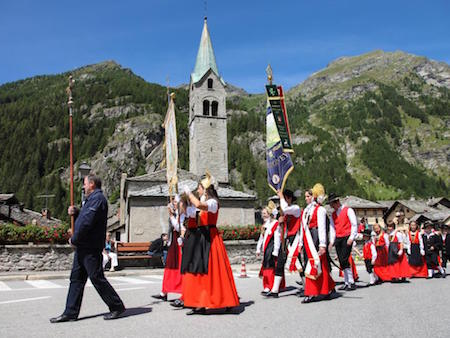 The procession on the St. John's Day in Gressoney