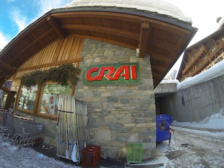 Crai food shop in Champoluc