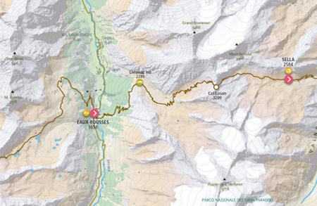 Map8 Eaux-Rousses - Rifugio Vittorio Sella